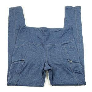 Athleta womens blue fitted leggings size medium